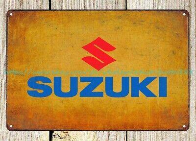 Suzuki Motorcycle man cave garage metal tin sign at home decor store