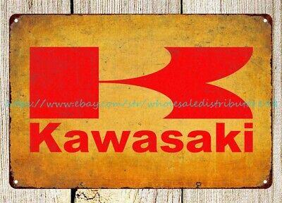 inexpensive home decor kawasaki Motorcycles man cave garage metal tin sign