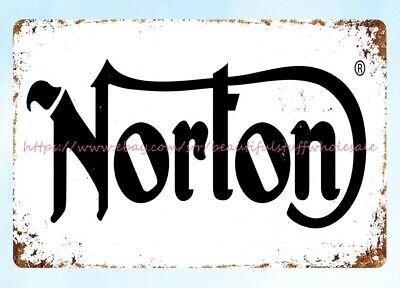 home decor center Norton motorcycle man cave metal tin sign