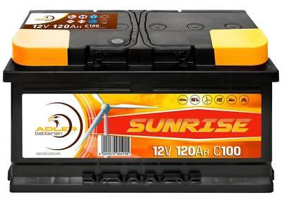 Versorgung Caddy (Adler Sunrise 12 V / 120 Ah Verbraucher Boot Versorgungs Batterie)