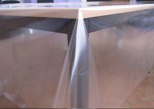 tela cerata tavolo pellicola tinta unita trasparente 200 protezione tovaglia ebay. Black Bedroom Furniture Sets. Home Design Ideas