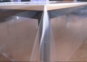 nappe de table transparent verre clair 100 glissi re protection 0 1mm ebay. Black Bedroom Furniture Sets. Home Design Ideas