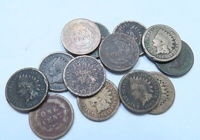 (3) 1859-1864 (C/N) Indian Head Penny Lot // Copper/Nickel *W/ DATES* // 3 Coins
