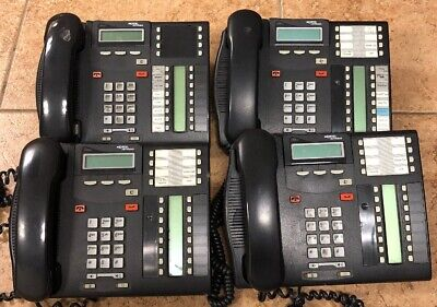 Lot Of 4 Nortel Networks Norstar T7316 Charcoal Business Office Phone