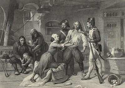 Arrest of a Peasant Royalist. Stahlstich von E. Goodall, um 1860