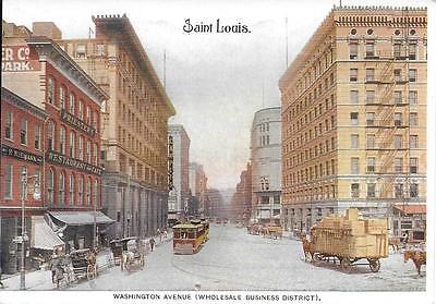 Washington Av  Wholesale Dist  Kansas City Mo Vintage Postcard Not Postally Used