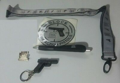 GLOCK Swag Promotional Items Keychain, Lanyard, Sticker, Patch, Hat Pin, Pen,