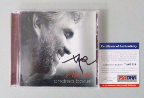52211 Andrea Bocelli Opera Amore Signed CD Album AUTO PSA/DNA COA