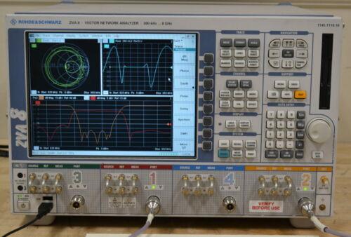 Rohde Schwarz ZVA8 4-Port Vector Network Analyzer 300Khz-8GHz opt B16/K2-4, K6