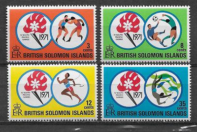 BRITISH SOLOMON ISLANDS , 1971 , 4TH SO. PACIFIC GAMES , SPORTS , SET OF 4 , MNH