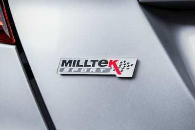Milltek Sport Exhaust Enamelled Chrome Polished Badge Fender Tail Logo Emblem