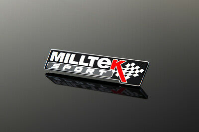 Milltek Sport Exhaust Black Badge Special Edition Fender Tail Logo Emblem
