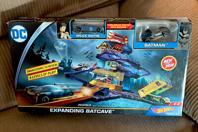 Hot Wheels DC Comics Batman Expanding Batcave Playset, New Bruce Wayne Mattel