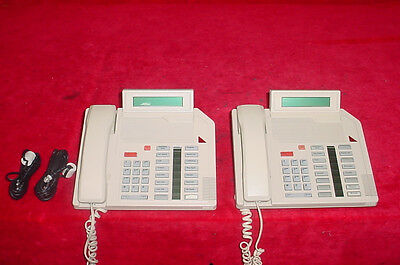 Northern Telecom M2616 Meridian Beige Desk Phone Lot Of 2 2
