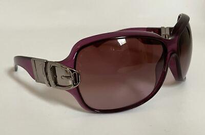 Gucci Belt Buckle Sunglasses Purple Silver Side Buckle Style GG 2591/S