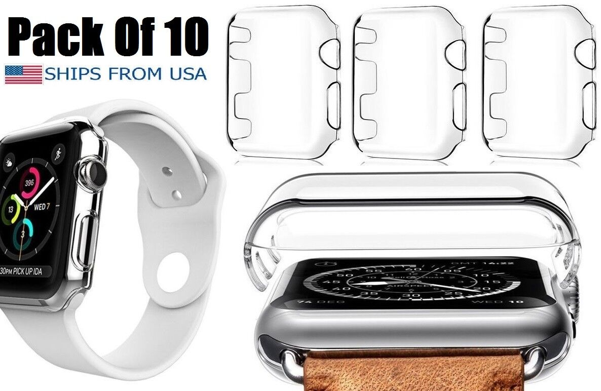 Clear Ultra Thin Shockproof Hard Case Cover 4 Apple Watch Series 3 38mm 10 PACK Cases, Covers & Skins