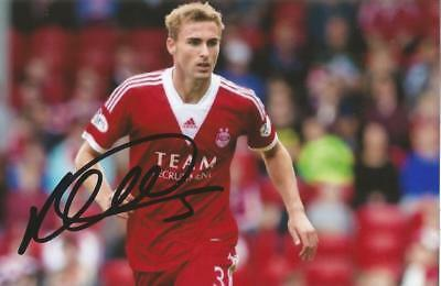 ABERDEEN: CLARK ROBERTSON SIGNED 6x4 ACTION PHOTO+COA
