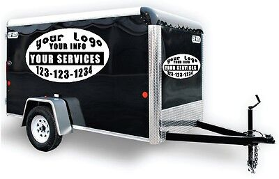 Trailer Vinyl Lettering Decal Sticker Business Signs