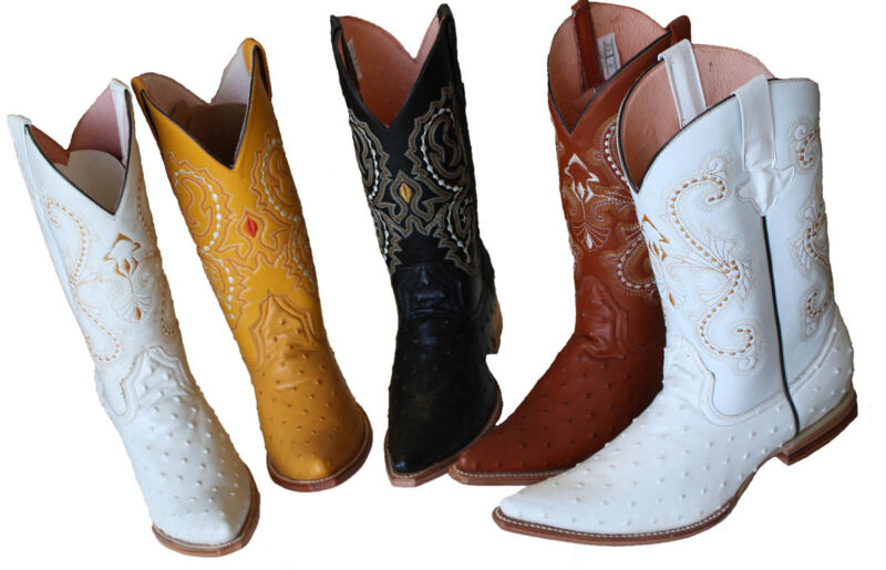 MEN, WESTERN, COWBOY, OSTRICH, PRINTLEATHER, (EMBOSSED, OSTRICH), , BOOTS, SNIP, TOE, ``