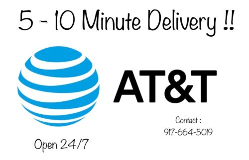 AT&T Numbers To Port | ATT Numbers For Port | 5 - 10 Minute Delivery | Digital