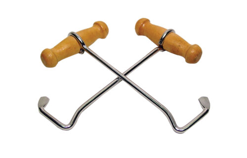 """BOOT Pull HOOKS Western 9"""" HEAVY DUTY PAIR Wood Handles Cowboy Boots Bootstrap"""
