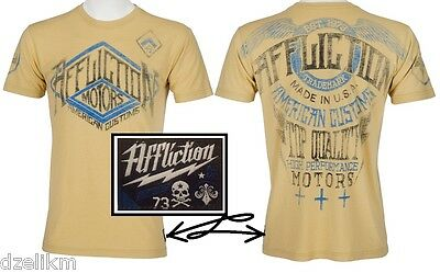 Affliction Men's Contemporary T-shirt Customs Speed Trials Motors Tee Size S