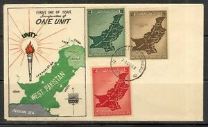 7-12-1955-PAKISTAN-FDC-ONE-UNIT-MAP-OF-WEST-PAKISTAN-LAMP-SG-No