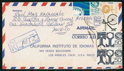 Mayfairstamps Mexico Reg CA Instituto Idiomas Bicycle Export Combo Cover wwo_517
