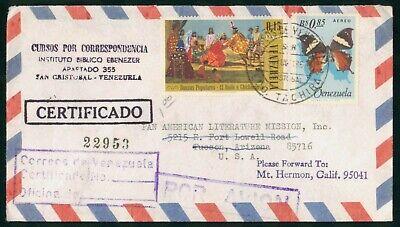 Mayfairstamps Venezuela Instituto Biblico Ebenezer Butterfly Dancing Cover wwo_5