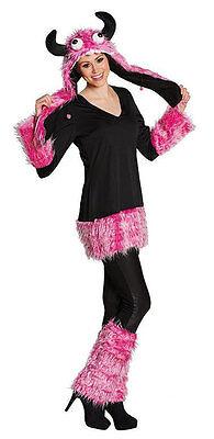 Verrücktes pinkes Monster Damenkostüm NEU - Damen Karneval - Monster Kostüme Damen