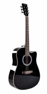 Acoustic Guitar brand New 41 inch Black Dreadnought iMusic506 iMusicGuitar Free 5 picks