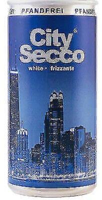 48 Dosen City Secco Perlwein 10.5% White Frizzante a 0,2L weiß 9,6 Liter