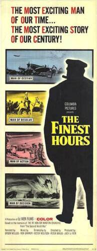 THE FINEST HOURS orig WW2 1964 movie documentary movie poster WINSTON CHURCHILL