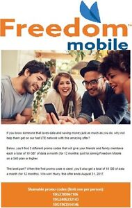 Wind / Freedom Mobile 10 GB LTE Data Plan Upgrade