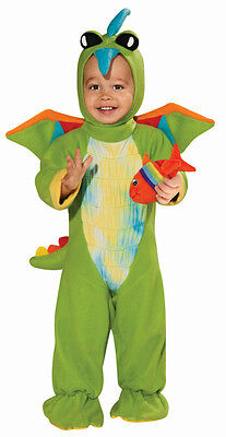 Green Dino Toddler Costume Size 12-18 months Fish Rattle Included