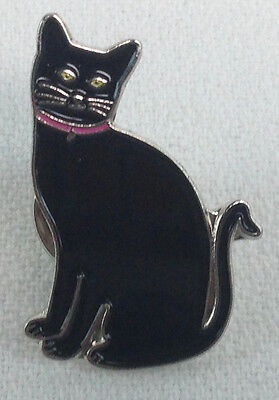 Schwarze Katze - UK Importiert Emaille-Reversnadel - Halloween Kitty - für Alle ()