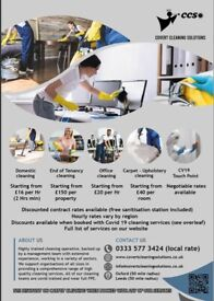 Domestic / End of Tenancy / Office / Commercial / After builders Cleaning Services
