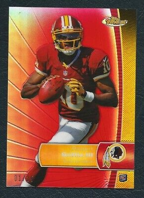 Pay Pal Only 2012 Topps Finest Red Refractor  1 25 Robert Griffin  Rc    First O