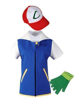 Pokemon Go Ash Ketchum Trainer Cosplay Jacket Pocket Monster Costume Hoodie Coat](Pokemon Trainer Ash Costume)