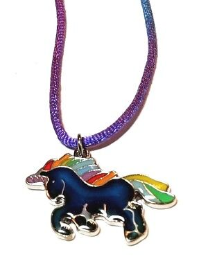 NEW Unicorn Rainbow Mood Necklace Color Change Pendant Liquid Crystal Thermo - Rainbow Colored