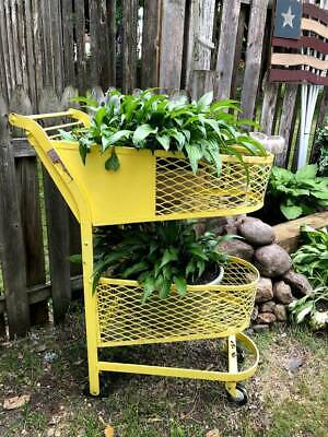 Vintage 1930s - 40s Double Basket Grocery Store Shopping Cart