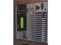 Yamaha 01V digital mixer, mixing desk, with ADAT i/o expansion card