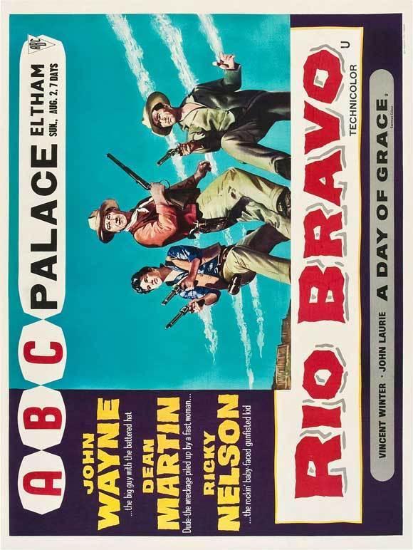 RIO BRAVO Movie POSTER 30x40 John Wayne Dean Martin Angie Dickinson Ricky Nelson