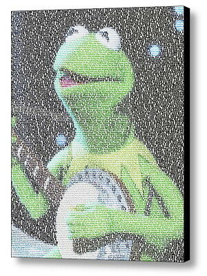 Kermit The Frog Rainbow Connection Song Lyrics Mosaic Framed Limited -