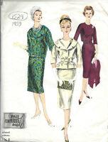 1959 Vintage Vogue Patrón De Costura B34 Vestido & Chaqueta (1529) - vogue - ebay.es