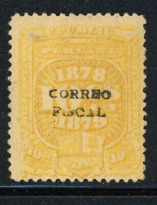 Peru- Ancachs Provisional Scott 1N10, Correo Fiscal- MH
