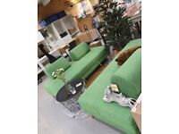 FLOTTEBO sofa bed, vissle green IKEA Edinburgh, WAS £450 #BargainCorner