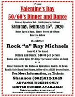 Valentine's Day 50/60's Dinner and Dance