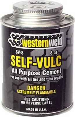Cold Vulcanizing Tire Tube Patch Repair Cement 8 oz. Brushtop Can Westernweld