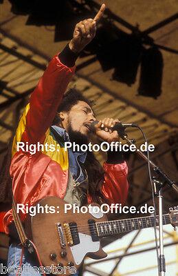 Bob Marley in München 1980 seltenes 30x45cm tolles Konzert Foto Poster